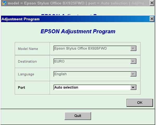 Epson <b>BX925FWD</b> (EURO) Ver.1.0.1 Service Adjustment Program  <font color=red>New!</font>